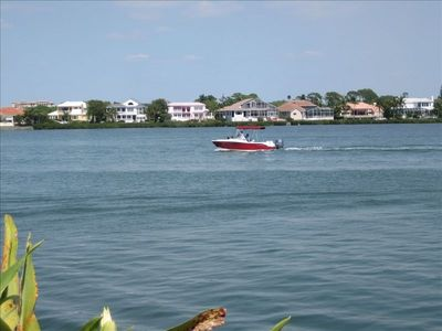 View of the Intracoastal Waterway from the swimming pool and club house area