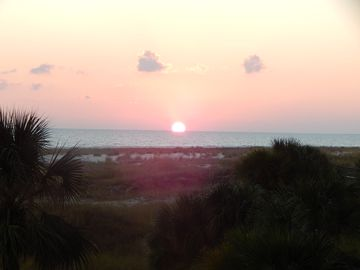 Dauphin Island condo rental - Sunset from the balcony.