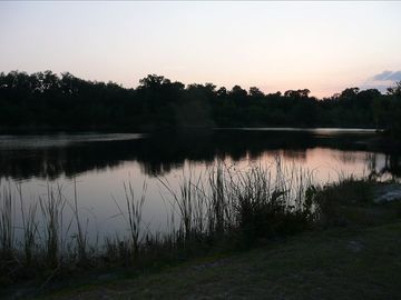 The Fishing lake at Sunset