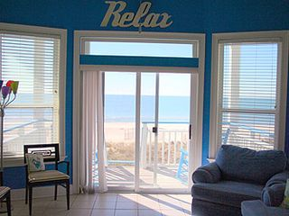 St George Island cottage photo - View from living room