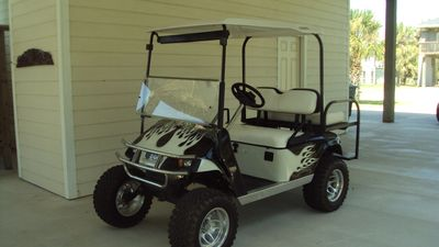 Golf Cart available for rent - stereo, street legal and seats 4-5