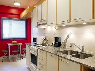 Recoleta apartment photo - kitchen fully equiped breakfast table marble count