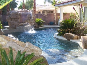 Las Vegas house rental - Pool and Spa with Grotto