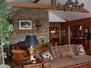 Boone estate photo - The 'Lodge'/Family room w/stone fireplace