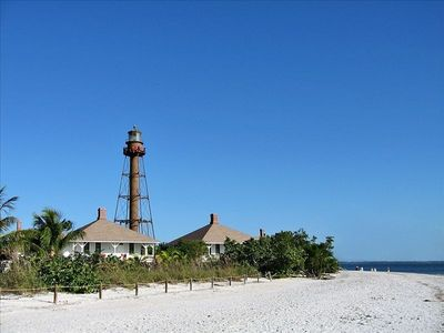 Famous Sanibel Lighthouse a short walk away