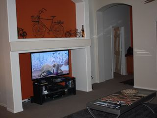 Goodyear bungalow photo - 55' Samsung 3D led SMART TV with Sony wifi blueray and Yamaha surround sound.