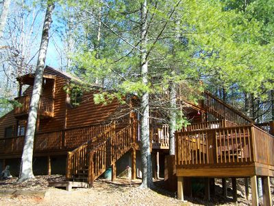 Hot Tub, Mountain Views, Outdoor Fireplace, Walking distance to Toccoa River 2/2