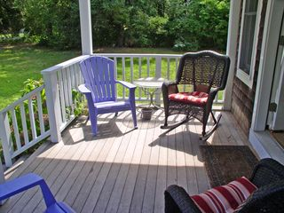 Oak Bluffs house photo - Come sit on the covered front porch and visit!
