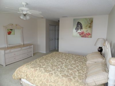 Ormond-by-the-Sea condo rental - Master Bedroom King Size Bed