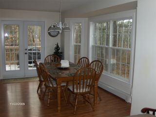 Fryeburg house photo - Dining area attached to kitchen