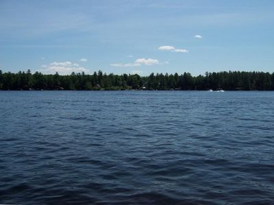 Glenfield cottage rental - View of Brantingham Lake from your Private Dock (Cottage Sleeps 2).