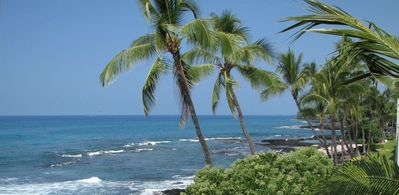See All The Way To Kona Harbor From Balcony- Northern View