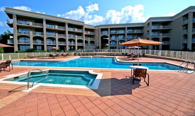 Magnificent whirlpool and pool area, 20 yards from the condo's back porch