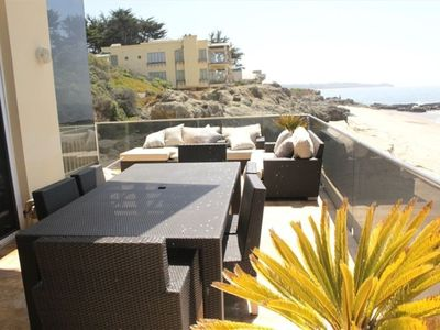 Huge beachfront entertainment deck