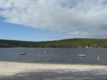 Our 250 acre lake with private beach