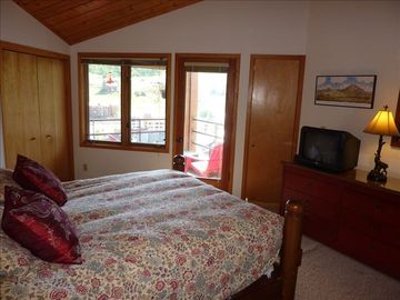 Master bedroom with attached deck with great views