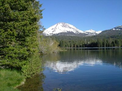 Manzanita Lake - known for its year- round calibaetis hatch, July- Motor Boat