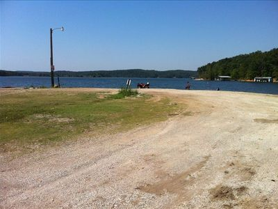 Just a short walk to the lake or short drive to load the boat at the boatdock