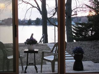 Traverse City cottage photo - View of Silver Lake from Living Room.