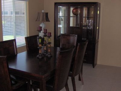 Formal dining a real treat. Table can expand to accommodate 8 persons.