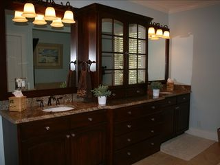 St. Simons Island house photo - Master Bath with His and Hers Vanities