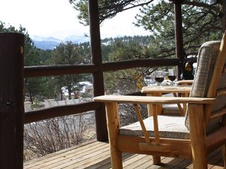 Estes Park cabin photo - Take in the Rocky Mtn views while you enjoy some of Estes' finest local wineries