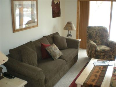 Living Room with Pull Out Double Couch