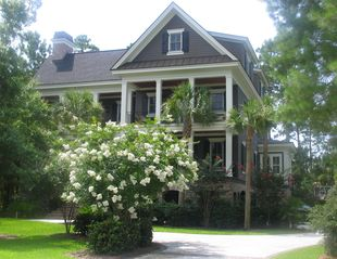 Kiawah Island house photo - Front of house in Spring