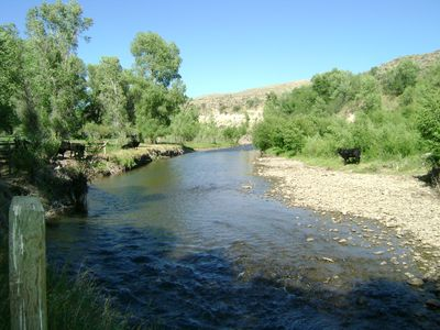 Savery apartment rental - Great trout fishing a short walk from your door.