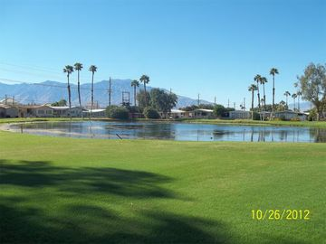 Thousand Palms mobile home rental - Golf Course Lake View to the West. Beautiful Sunsets
