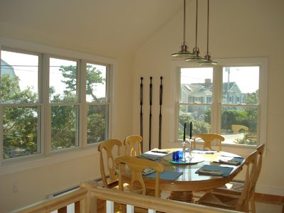Provincetown house rental - Views of the bay and historic houses on Commercial