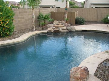 Maricopa house rental - Heated Pool with Water Feature