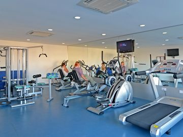 The fitness gym at the Spa - you may also like to try the steam room or sauna!