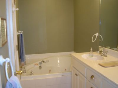 Master bath with Jacuzzi and separate shower