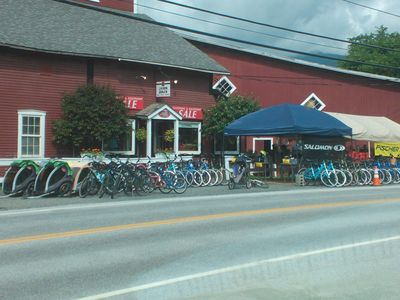 Nordic Barn ski and bike rentals across the street