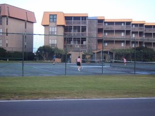 North Topsail Beach condo photo - Tennis Courts are located right in front of the building for your enjoyment!