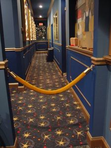 Entry to movie theater area...customized theater murals and more!