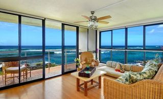 Poipu condo photo - 'SURF SONG' Surrounded by walls of glass right ON the OCEAN. 2 OF 3 WINDOW WALLS