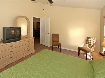 Each bedroom is equipped with cable TV.