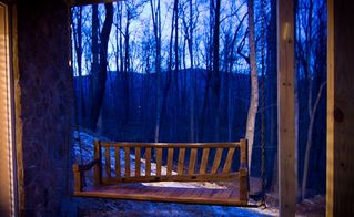 Stanardsville cabin photo - Antique swing for quiet contemplation and conversation.