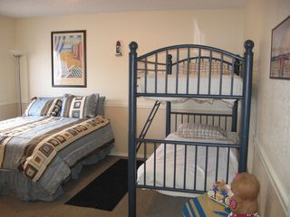 South Padre Island house photo - 4th Bedroom with Queen bed and Bunk Beds