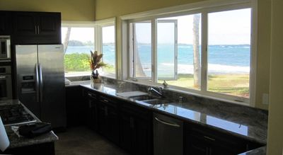 View or ocean from kitchen.