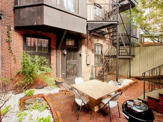 Boston apartment photo - Private garden terrace with BBQ.