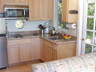Marshall studio photo - Kitchen has everything you need-stove-top, microwave/convection oven...