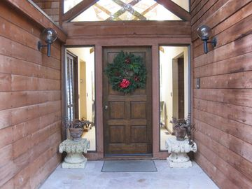 front entrance christmas wreath
