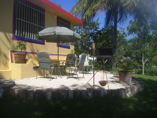 Bacalar house photo - Another view of the lake side patio area.