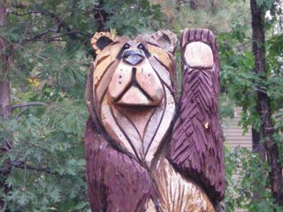 Pinetop condo photo - Wooden Bear outside our home invites you to come and enjoy a stay in Pinetop