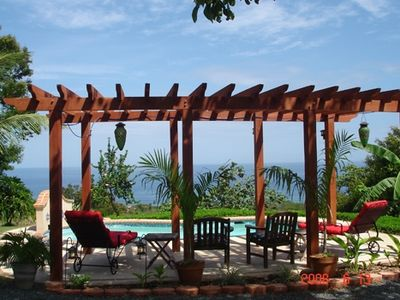 Rincon villa rental - Oceanview from Pool