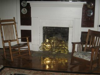 Fayetteville house photo - Living Room, keep warm by the fire.