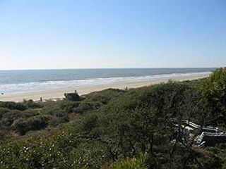 Kiawah's gorgeous beach beyond the dunes. - Kiawah Island villa vacation rental photo